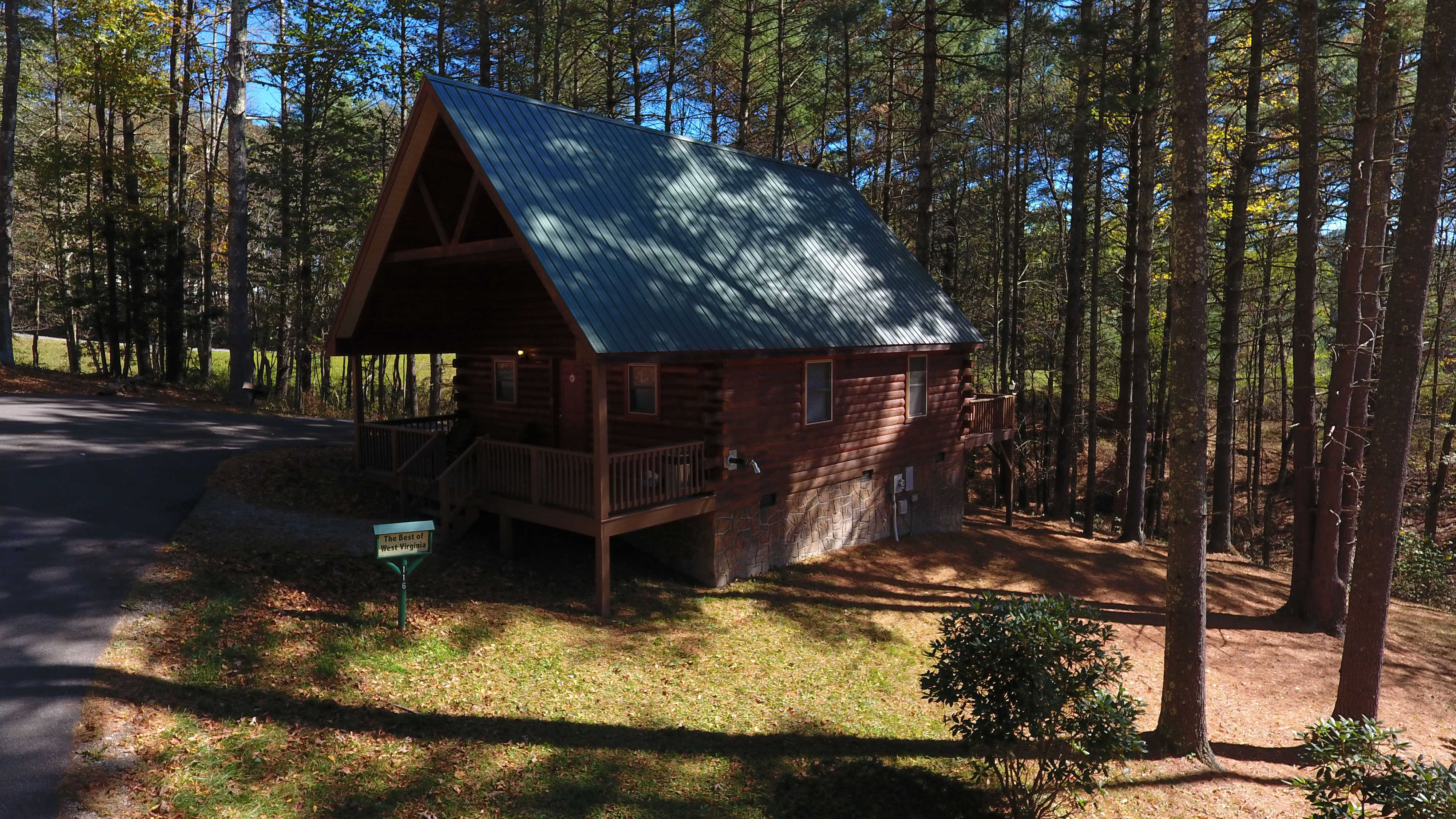 affordable sale rent california big wv lake tub in log cabins with for hot lakefront bear